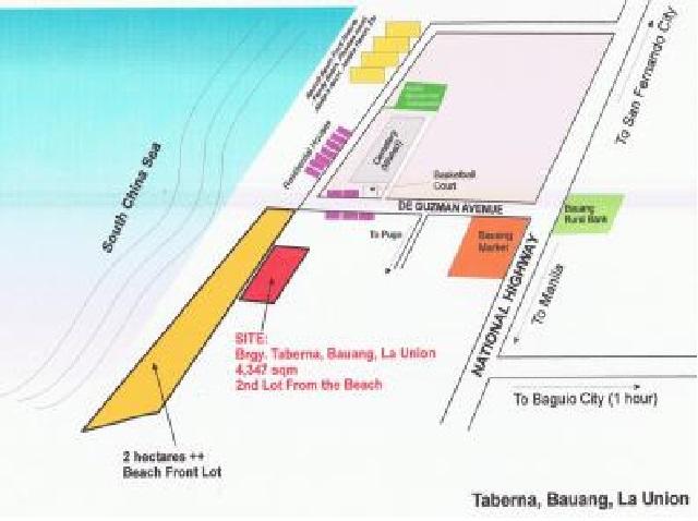 1,936 sqm Beach lot for sale in Taberna Bauang La Union, Ilocos